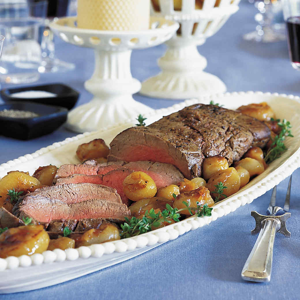 Beef Tenderloin with Cipollini Onions Agrodolce