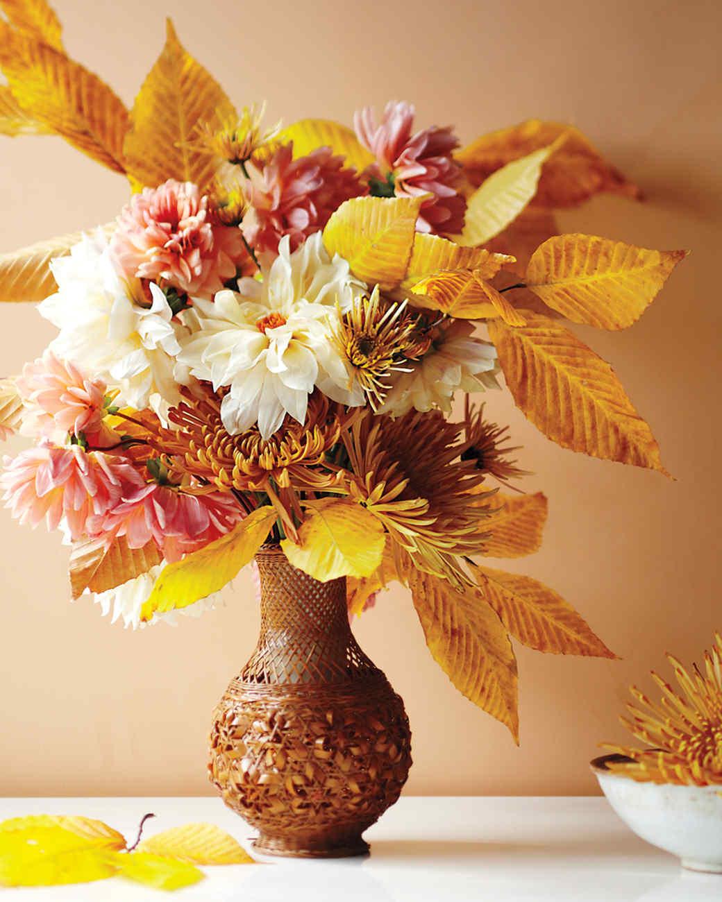 Martha Stewart Kitchen Design Ideas Fall Flower Arrangements Martha Stewart