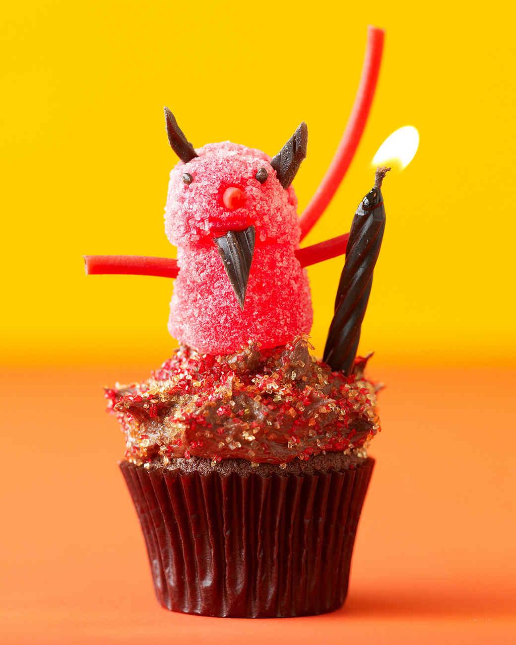 little devil cupcake