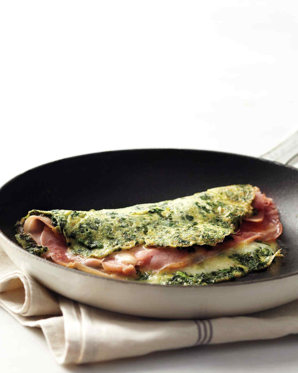 Green Eggs and Ham Omelet Recipe & Video | Martha Stewart