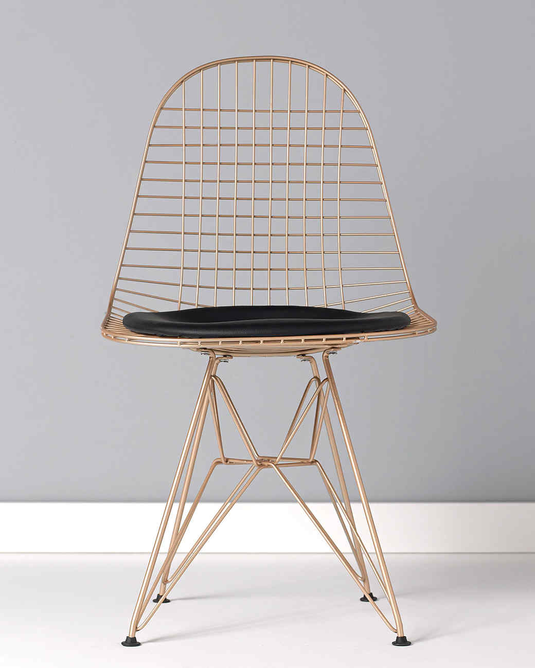 plaid wire chair