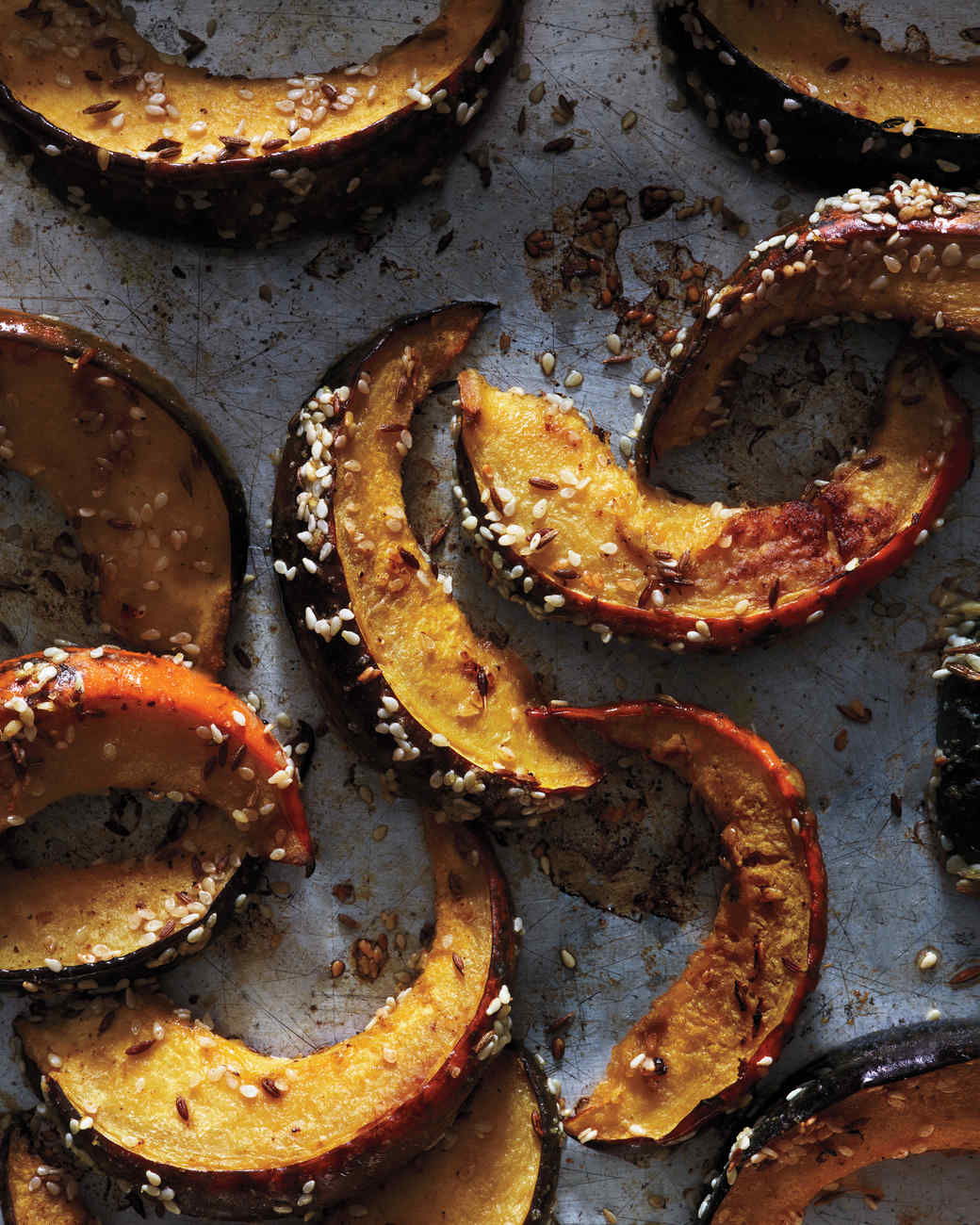 Roasted Squash With Sesame Seeds And In