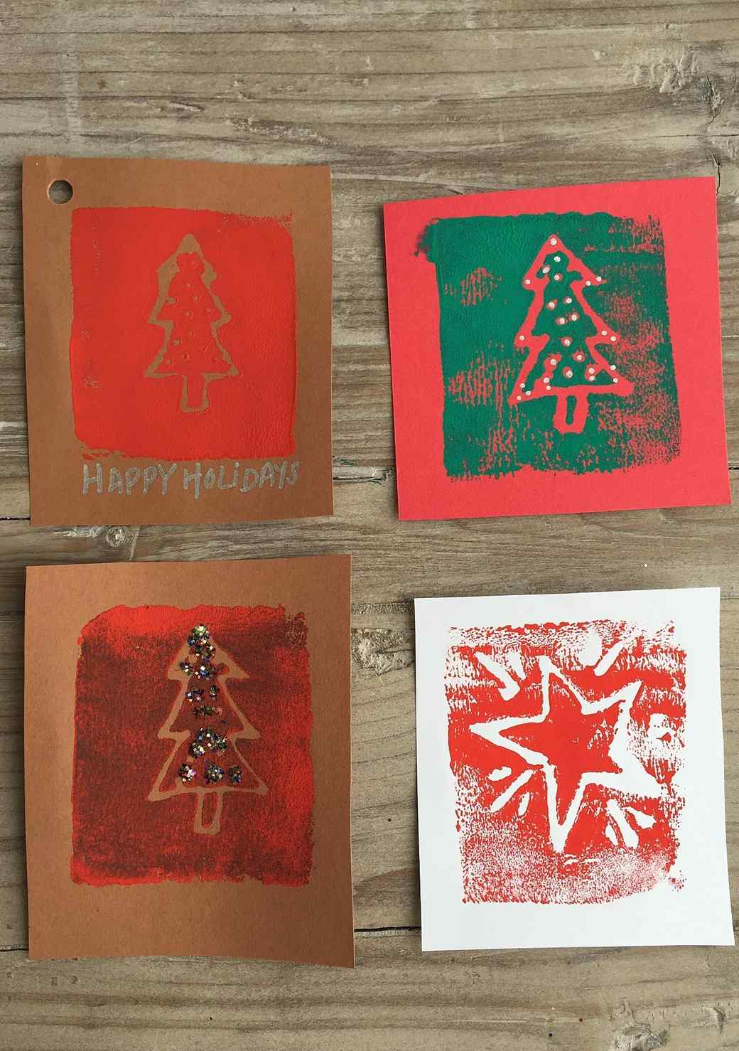 An Easy Way to Hand Print Your Holiday Gift Tags