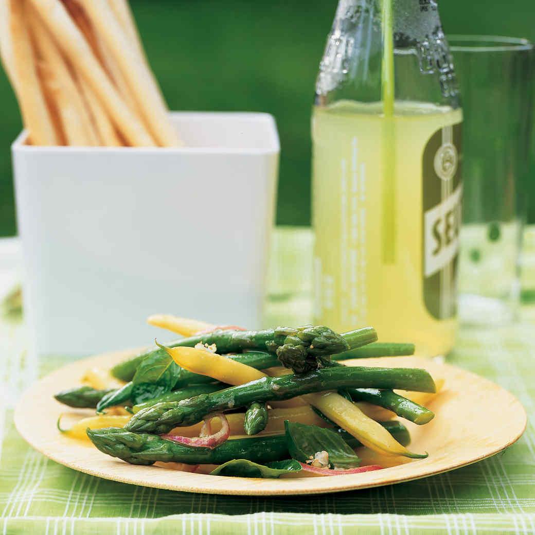 Asparagus and String Bean Salad with Basil