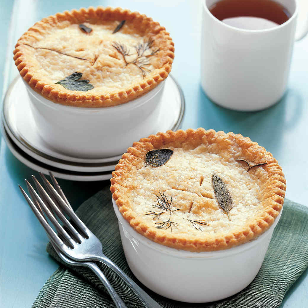 Mini Chicken Potpies with Herb Dough