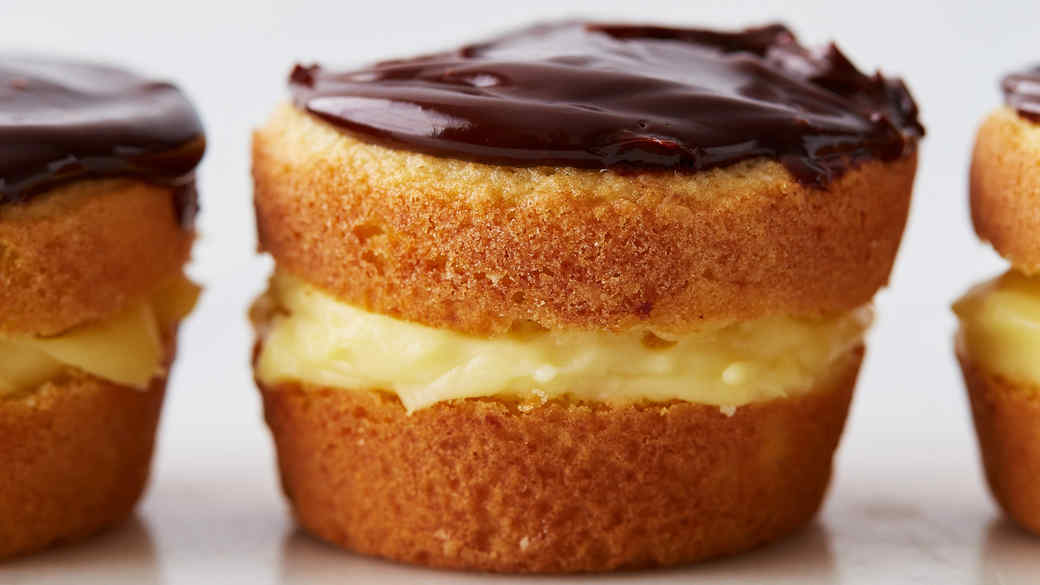 Individual Boston Cream Pies
