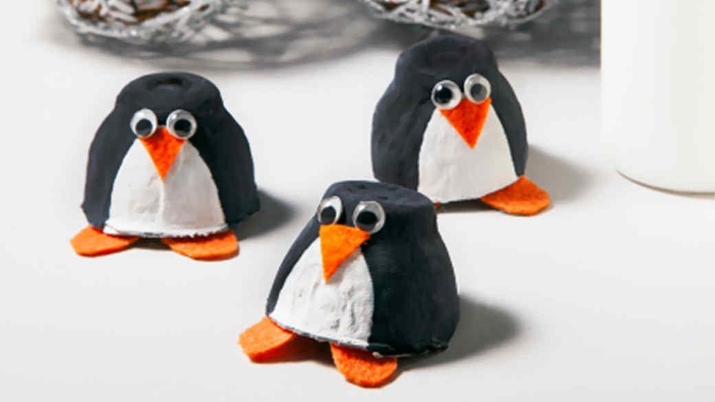 Make a Colony of Egg-Carton Penguins