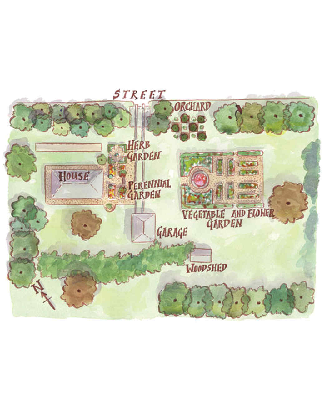 Planning your vegetable garden martha stewart for Planning my garden layout