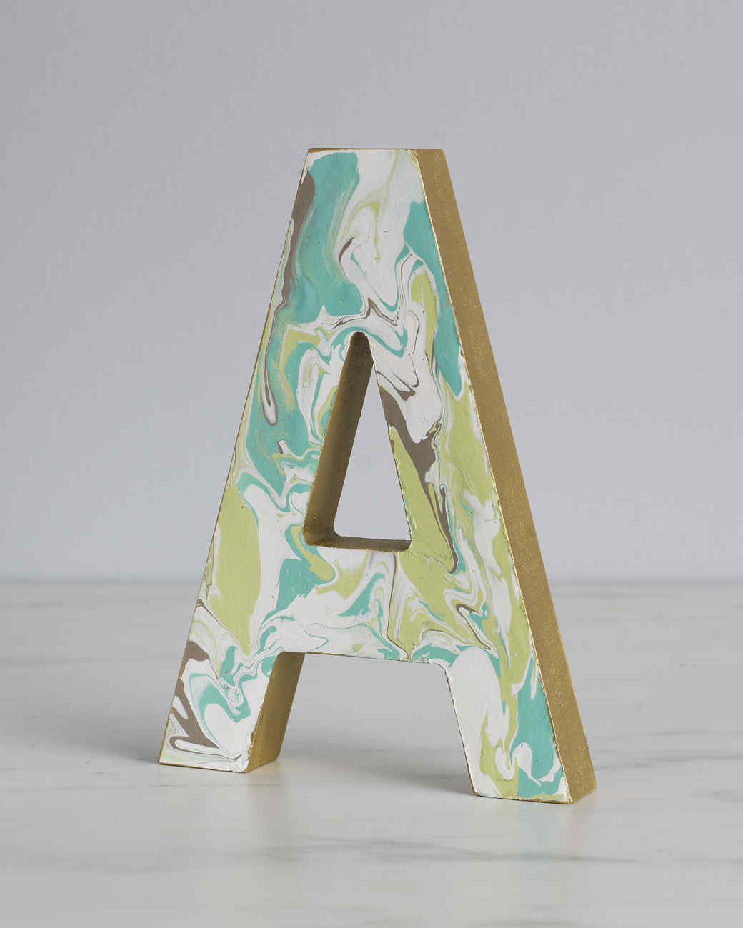 marbled letter craft