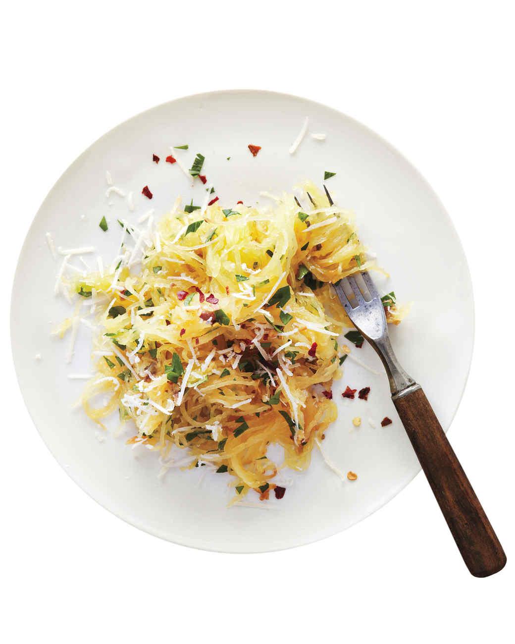 Roasted Spaghetti Squash with Parmesan