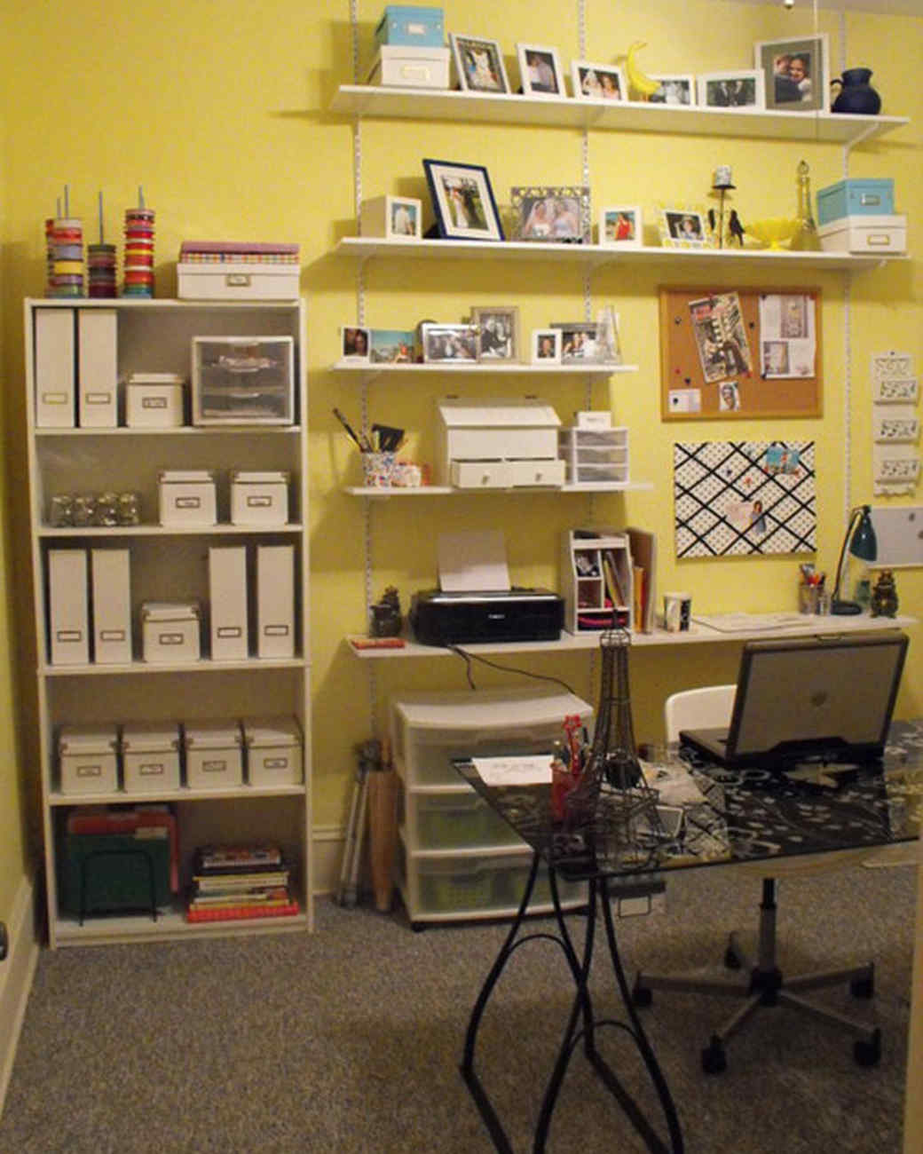 Your most creative crafts rooms martha stewart for Cheap craft room storage ideas