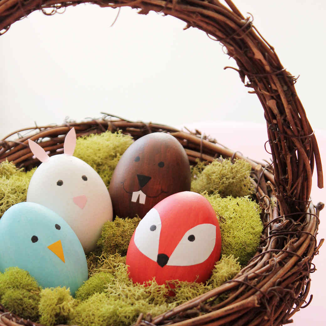 Cute Woodland Animal Easter Eggs