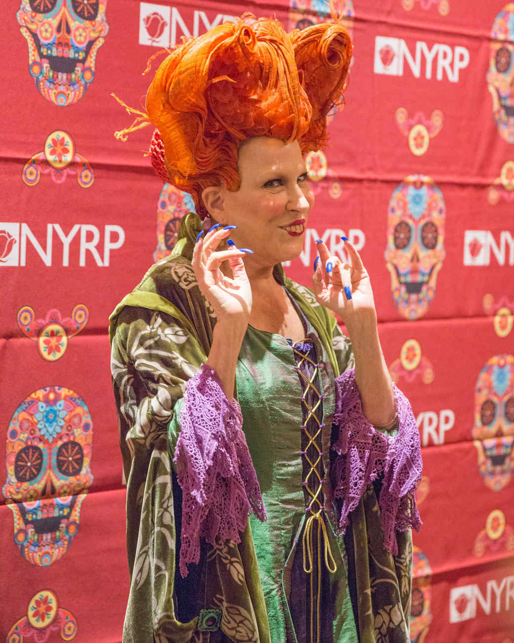 Bette Midler at the annual Hulaween gala 2016