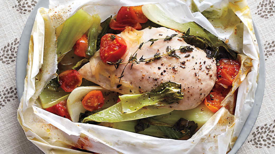 Chicken and Vegetables in Parchment