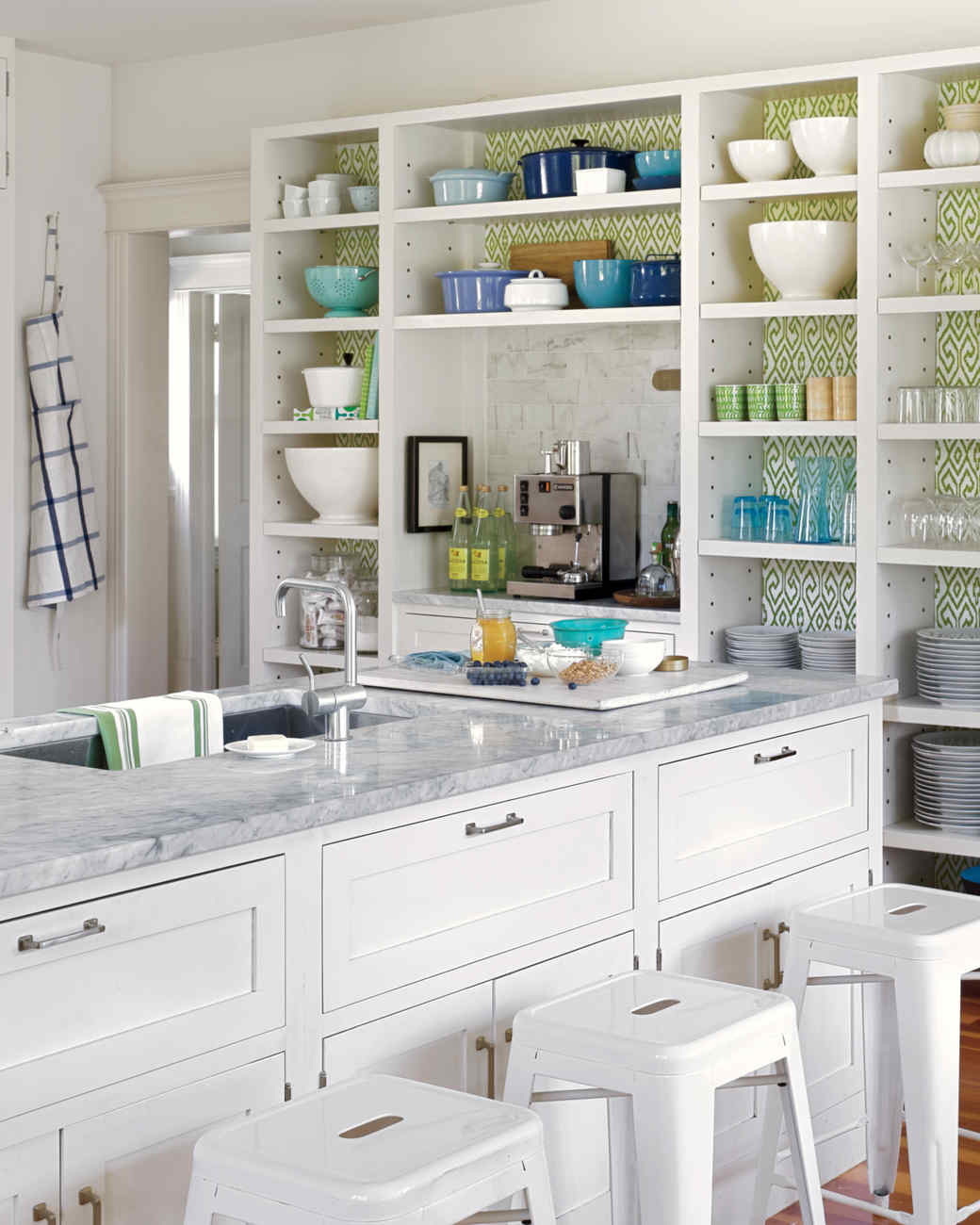 White Kitchen Aqua Accents kitchen accents we love | martha stewart