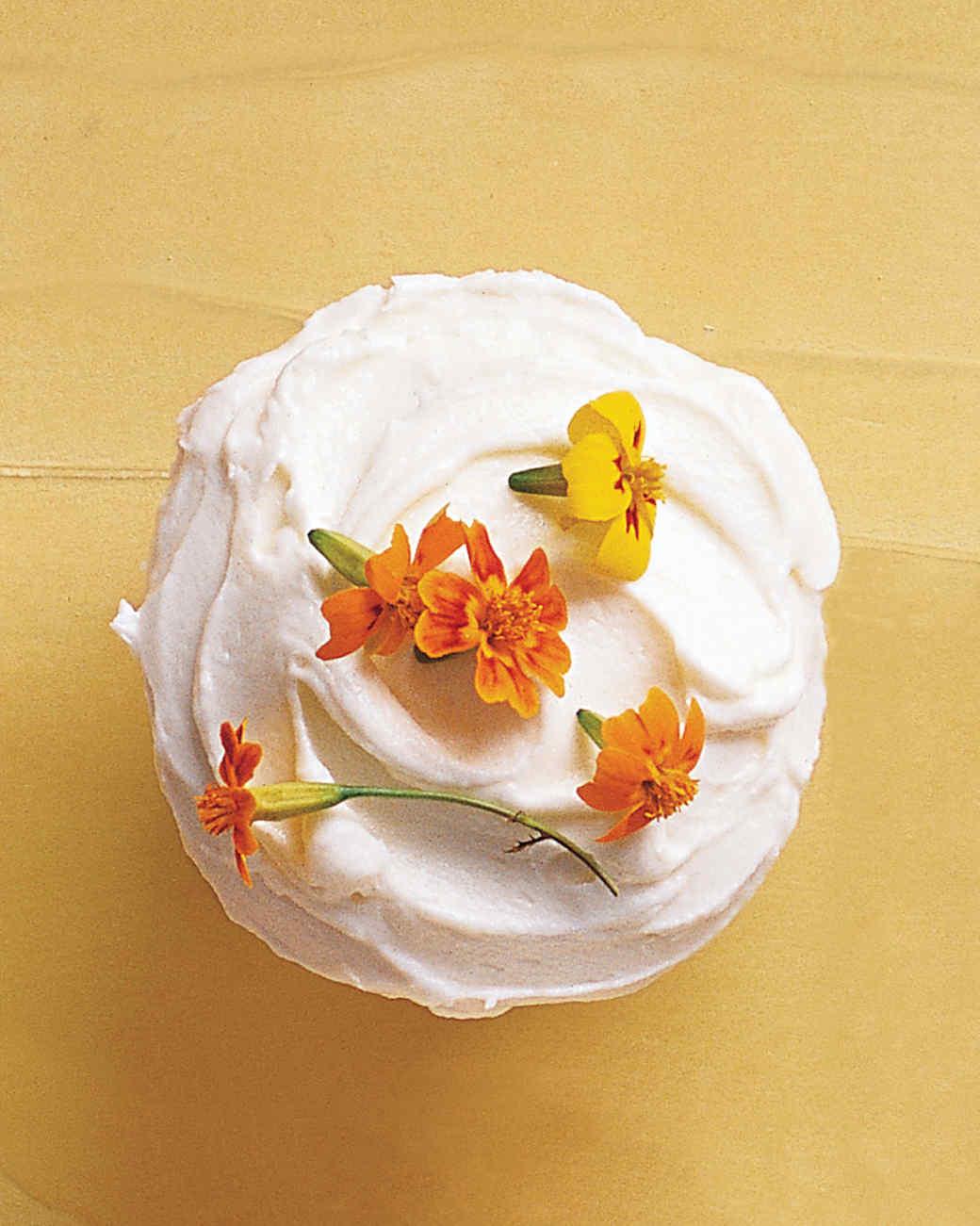 Edible-Flowers Cupcakes