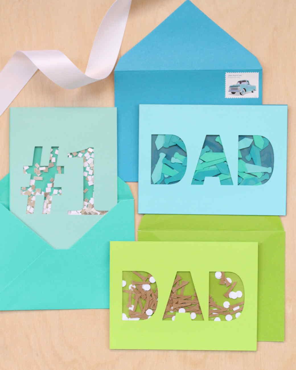 Father's Day Confetti Cards