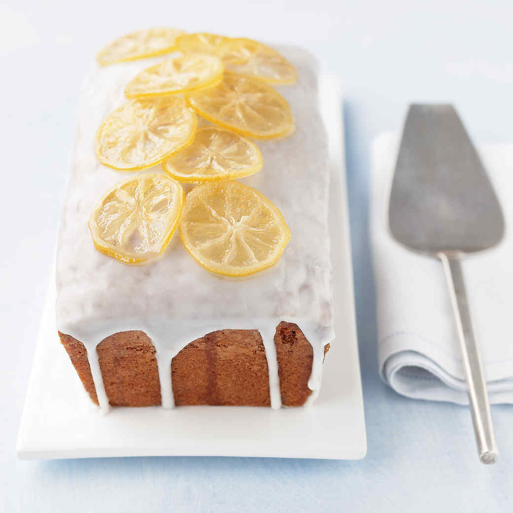 Lemon Pound Cakes with Candied Lemon Slices