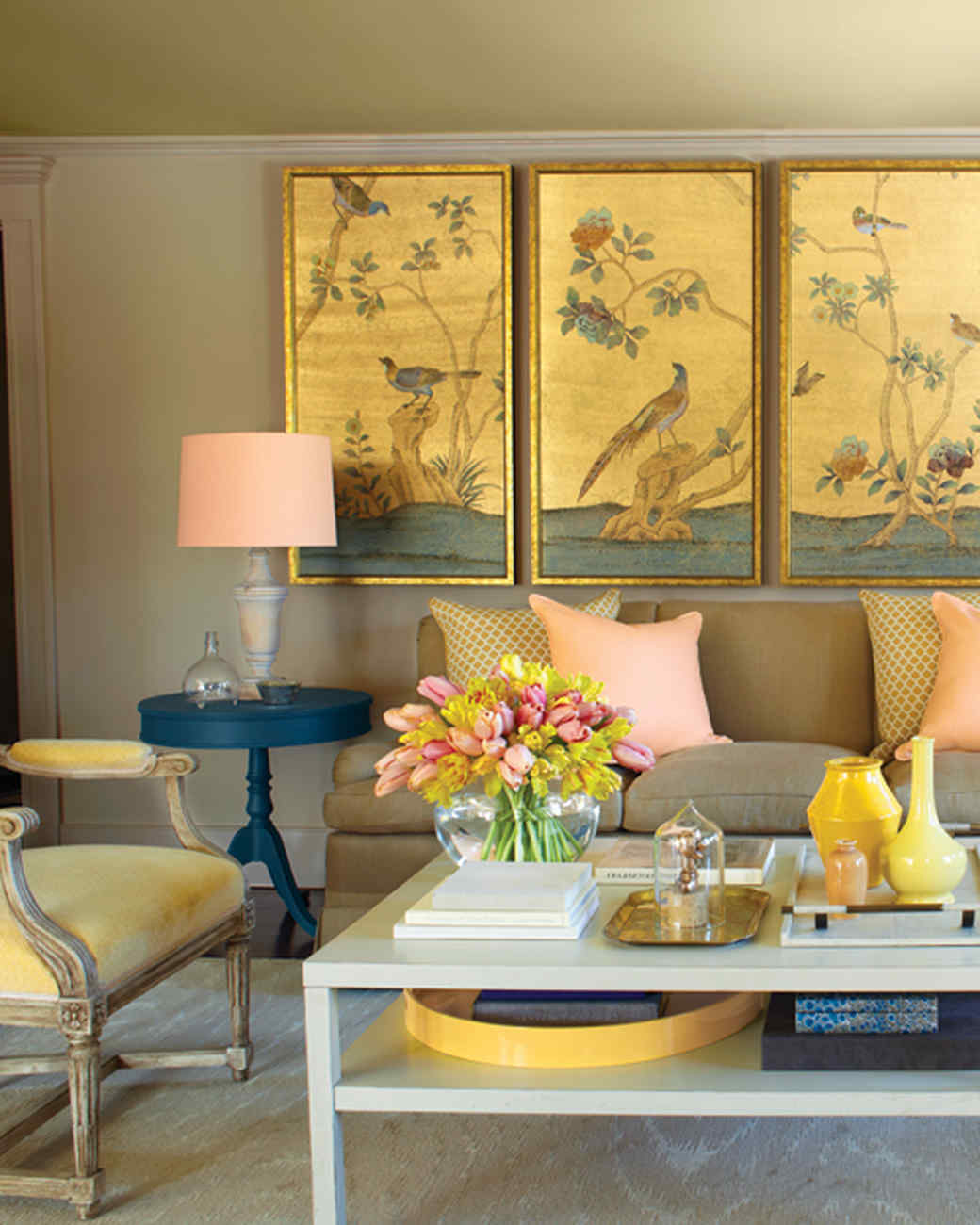 Paint palettes we love martha stewart for Living room yellow color