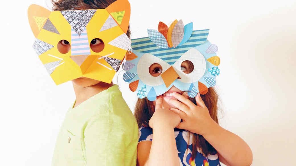 How to Make Paper Animal Masks for Kids
