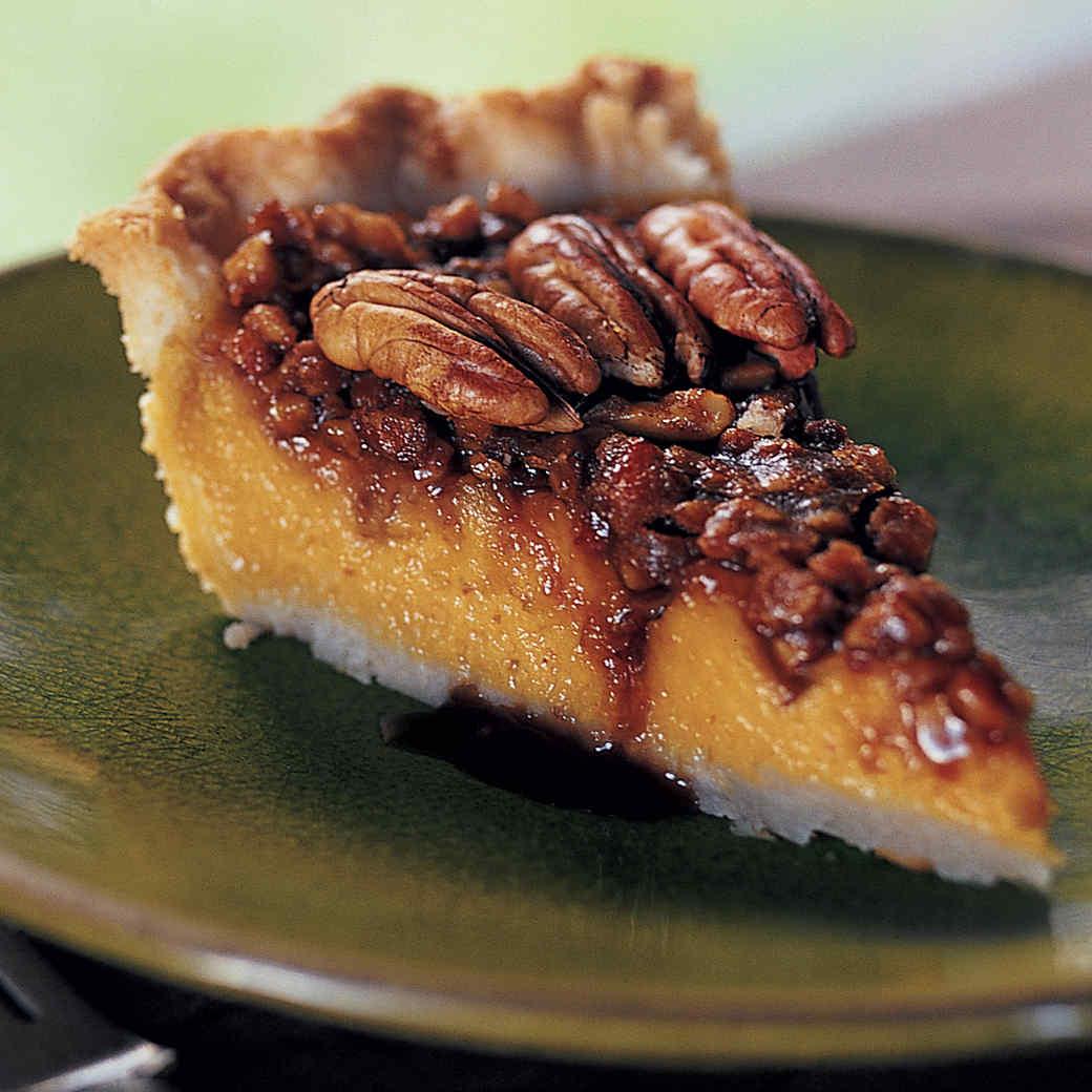 Pumpkin-Pecan Pie