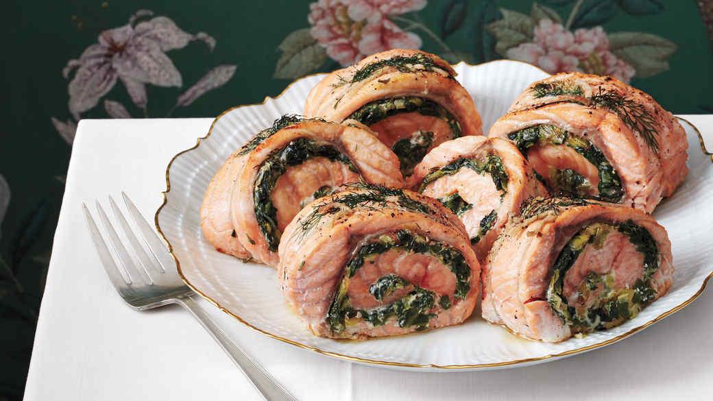 Rolled Stuffed Salmon
