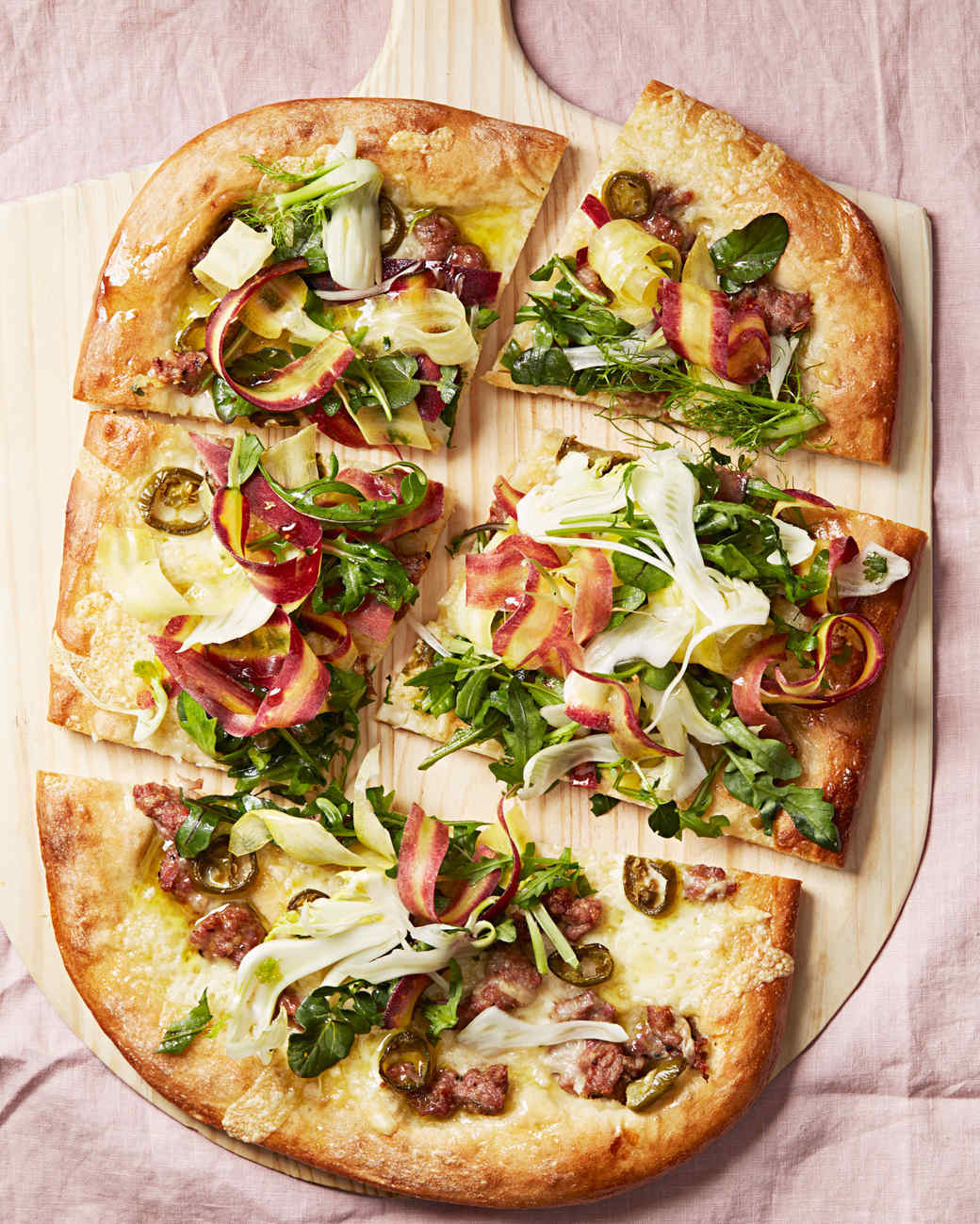sausage and fontina pizza