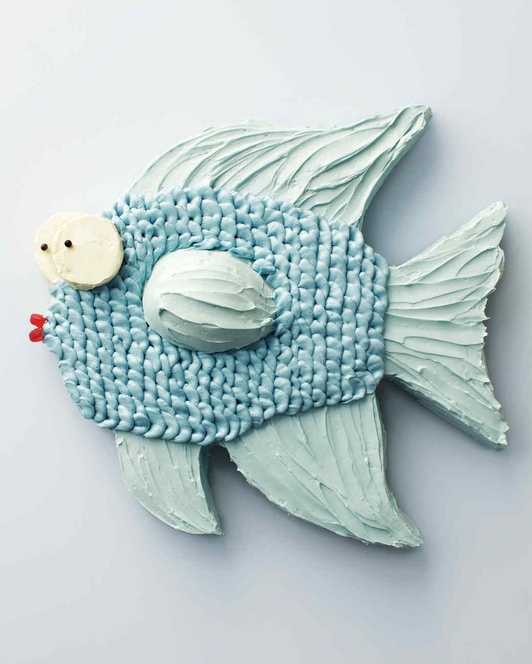 Fish cake how to martha stewart for Fish shaped cake