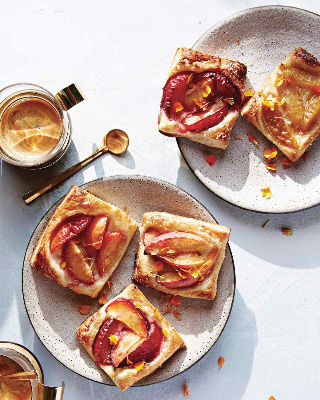 Puff-Pastry Tarts with Stone Fruits and Frangipane