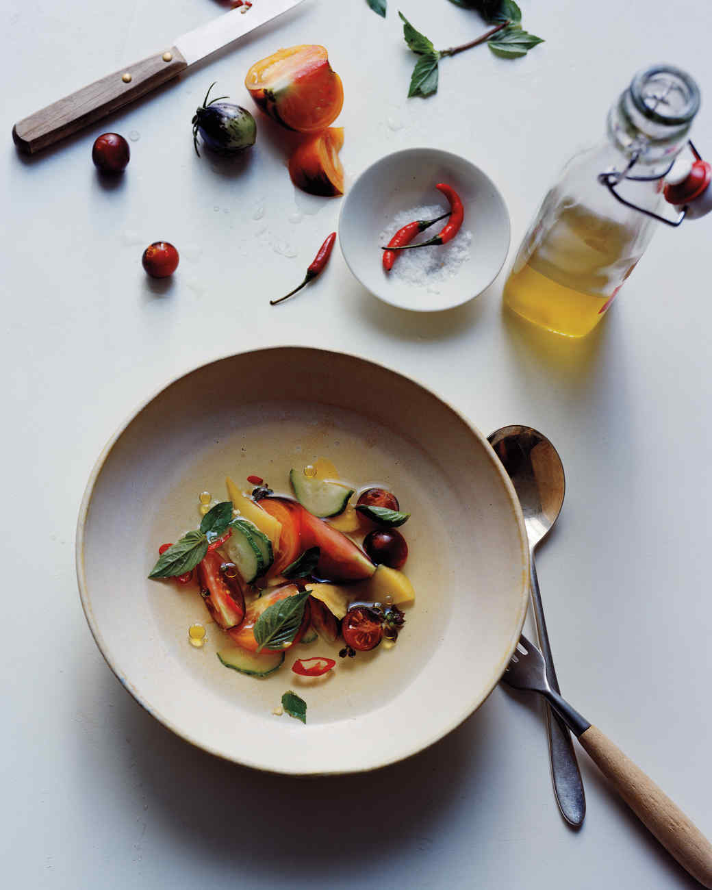 Tomato and mango salad with chiles and tomato essence for Essence magazine recipes