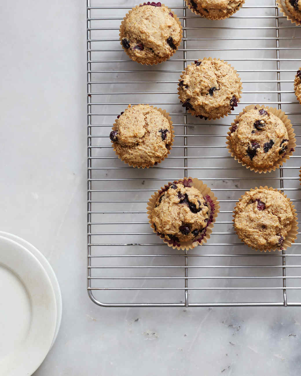 Looking for a Healthy Vegan Breakfast? Try These Whole-Grain Blueberry Muffins!