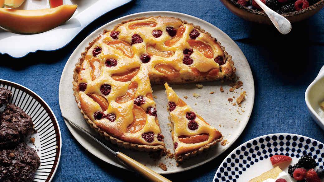 Apricot-Raspberry Frangipane Tart