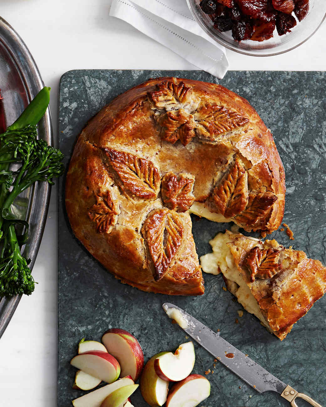 Baked Brie with Boozy Fruit