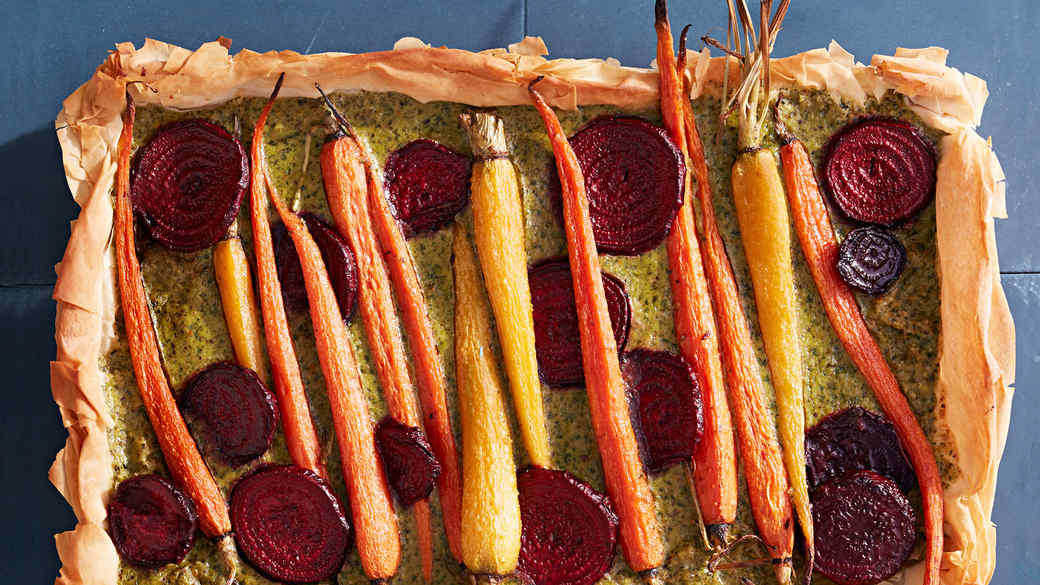 Roasted-Carrot-and-Beet Tart