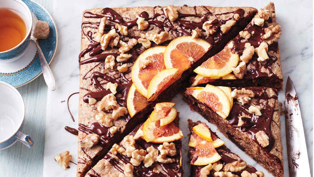 Passover Chocolate-Walnut Cake with Orange