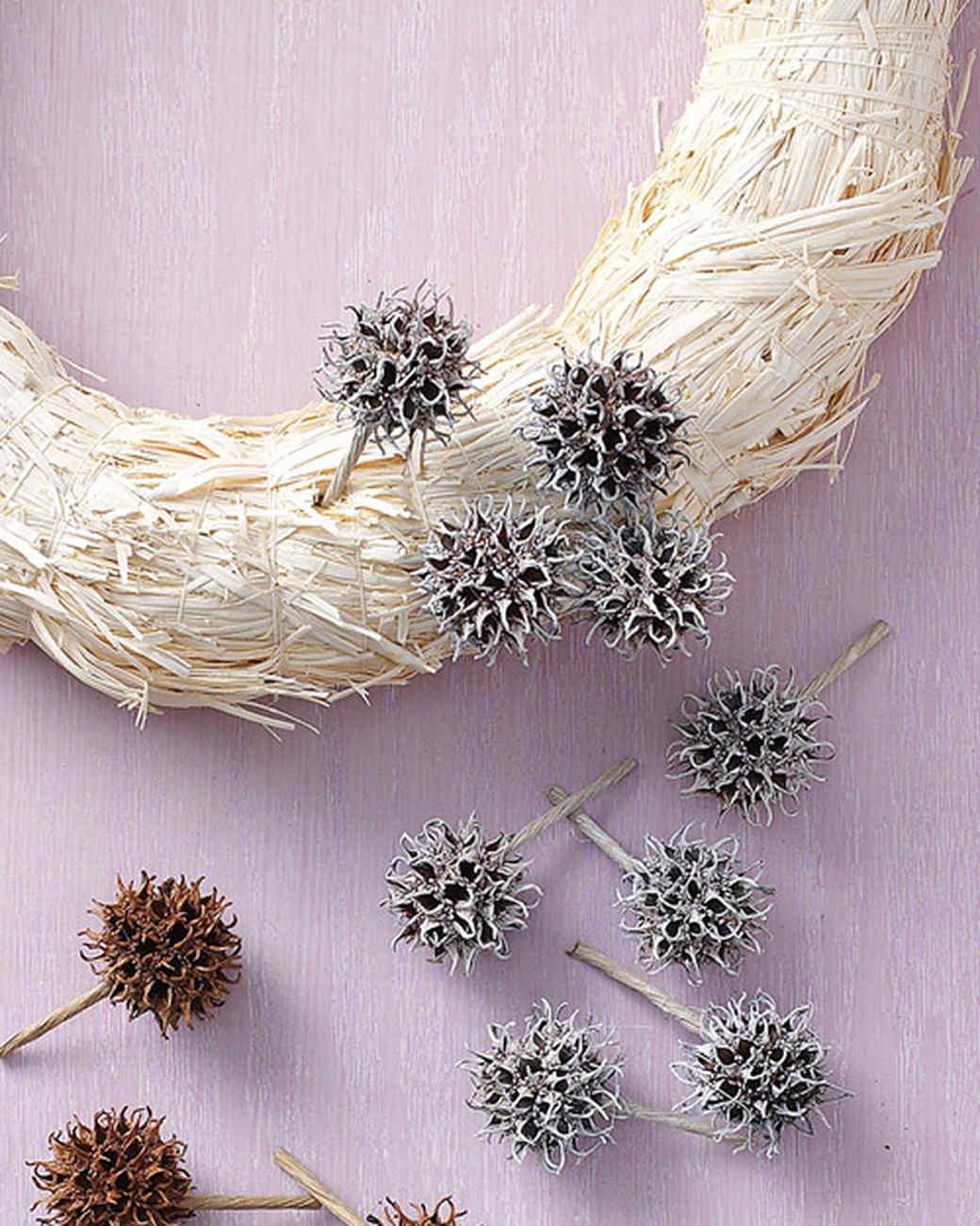 sweetgum fruit wreath martha stewart. Black Bedroom Furniture Sets. Home Design Ideas