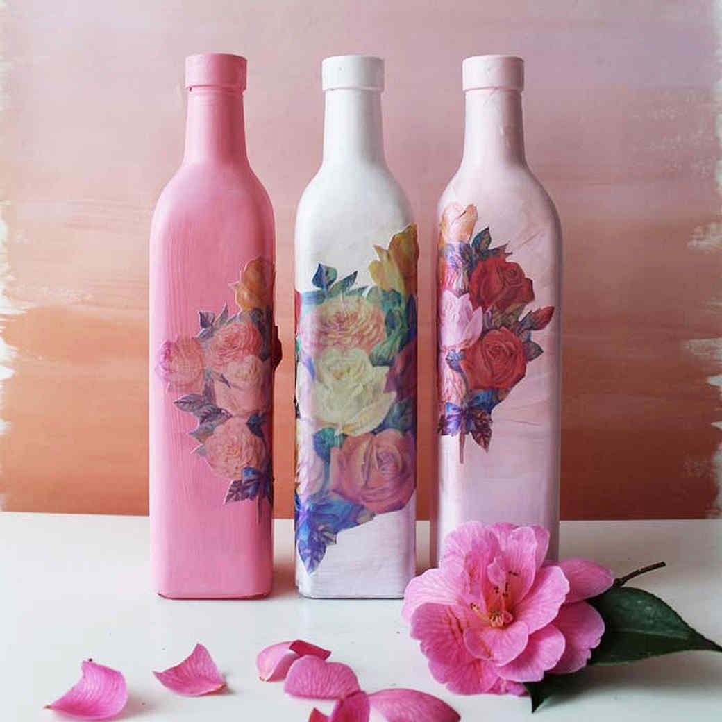 Using Decoupage to Beautify Your Empty Bottles
