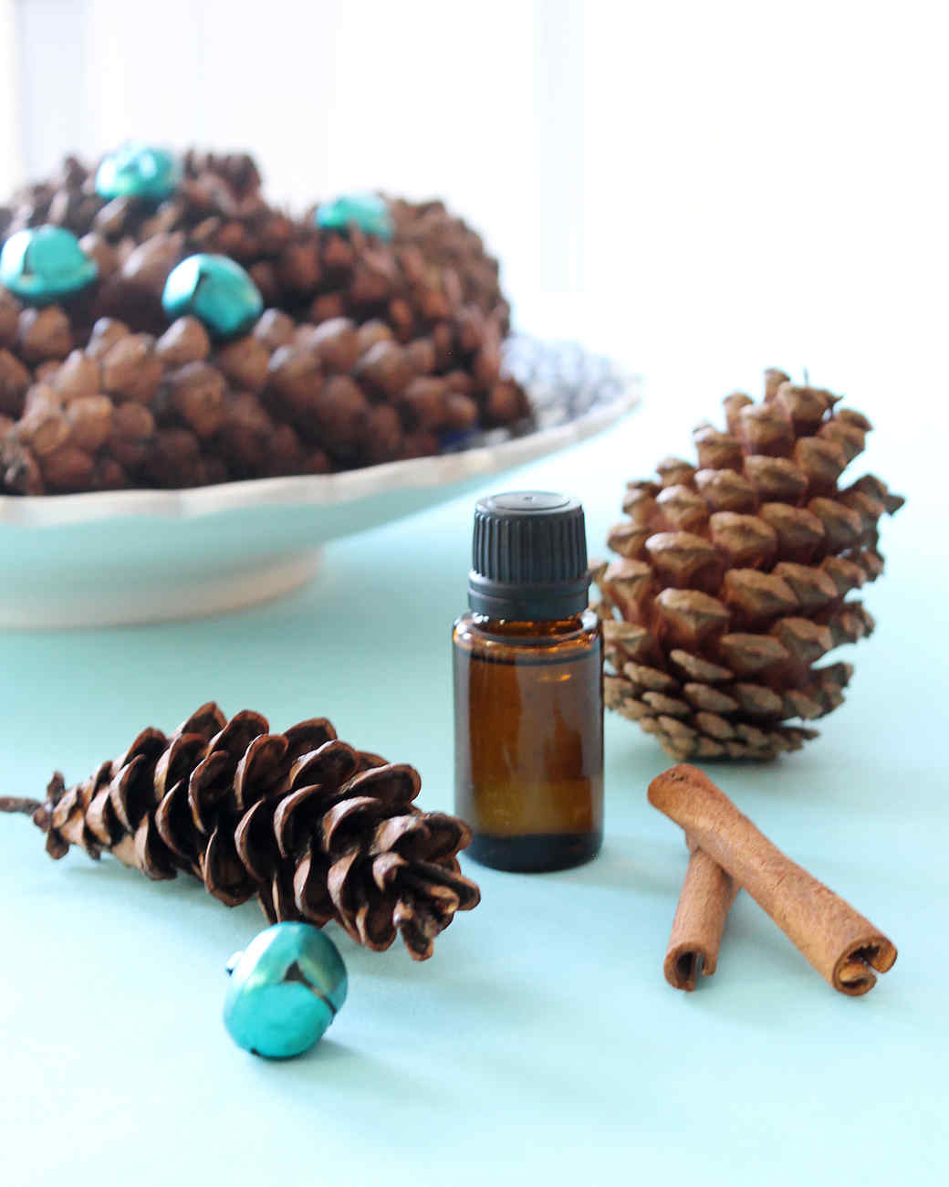 scented pinecones with essential oils