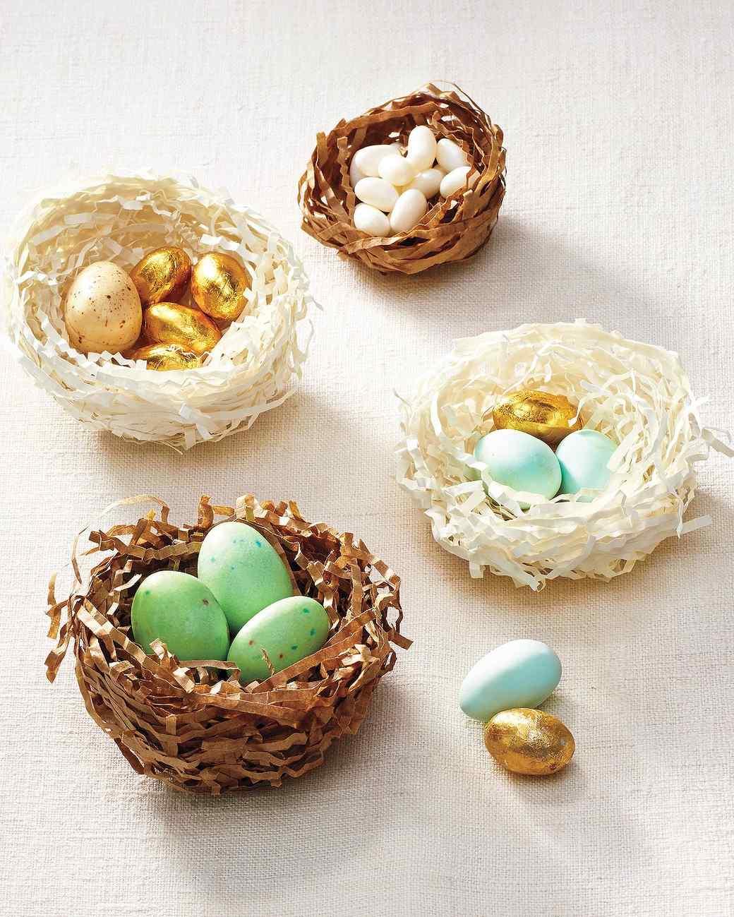 How to Make a Pretty Papier-Mache Bird's Nest for Easter