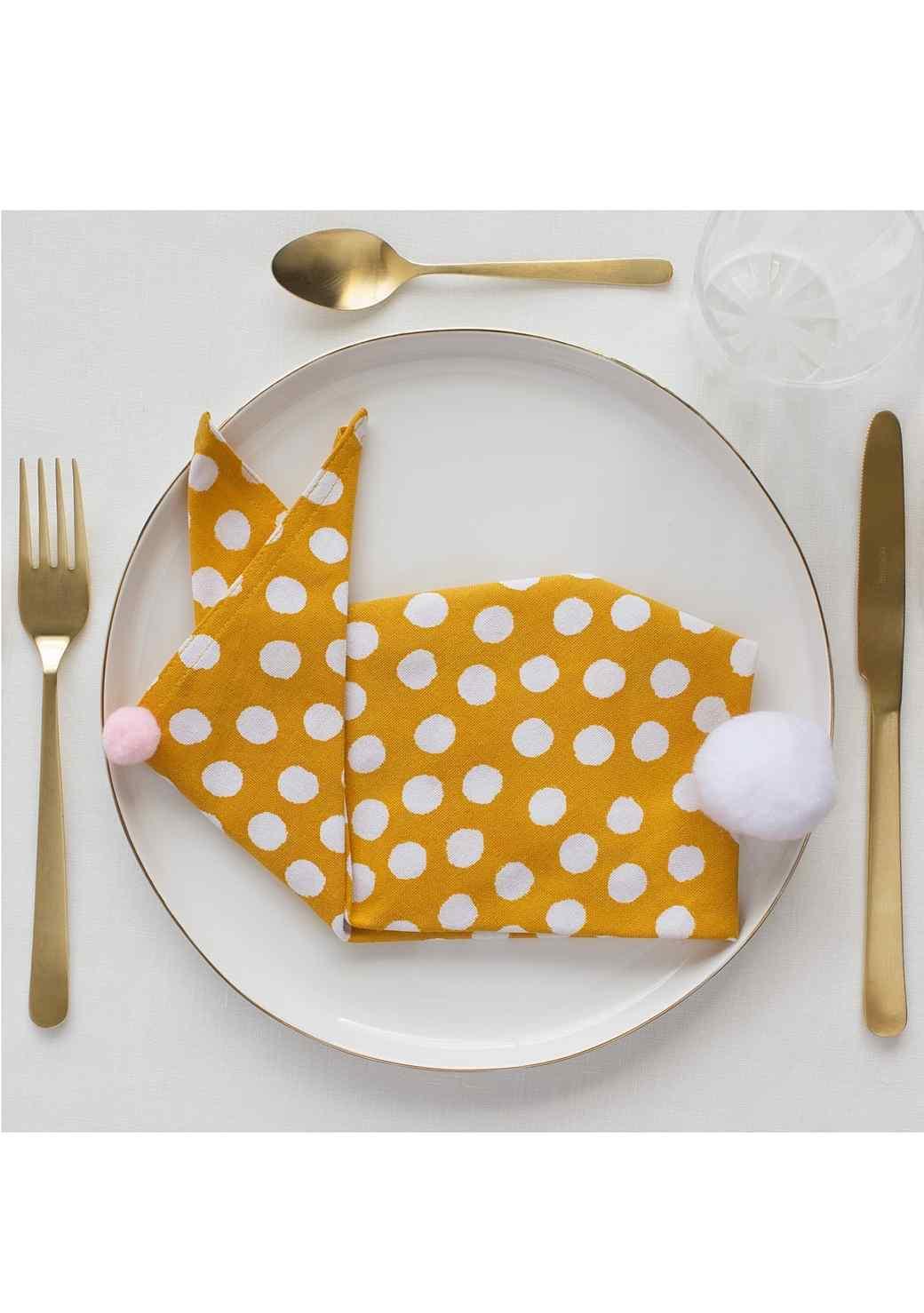 How to Fold a Napkin Into a Bunny