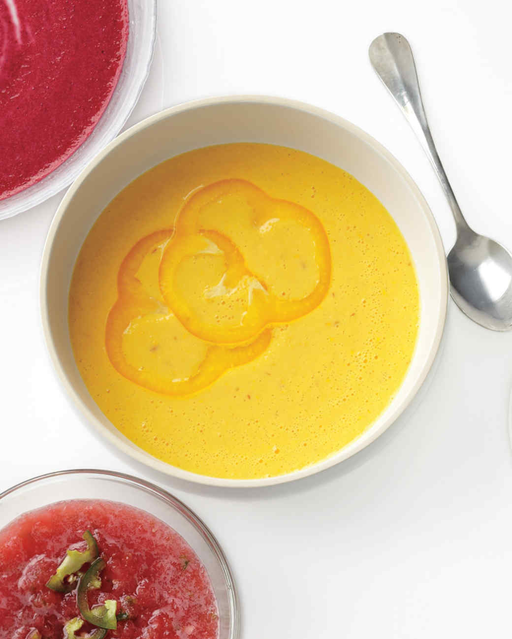 Bell Pepper, Yogurt, and Harissa Soup Recipe   Martha Stewart