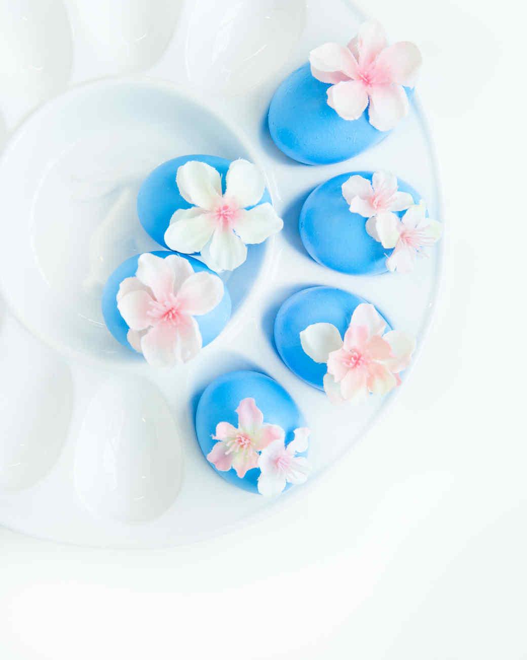 cherry blossom Easter eggs