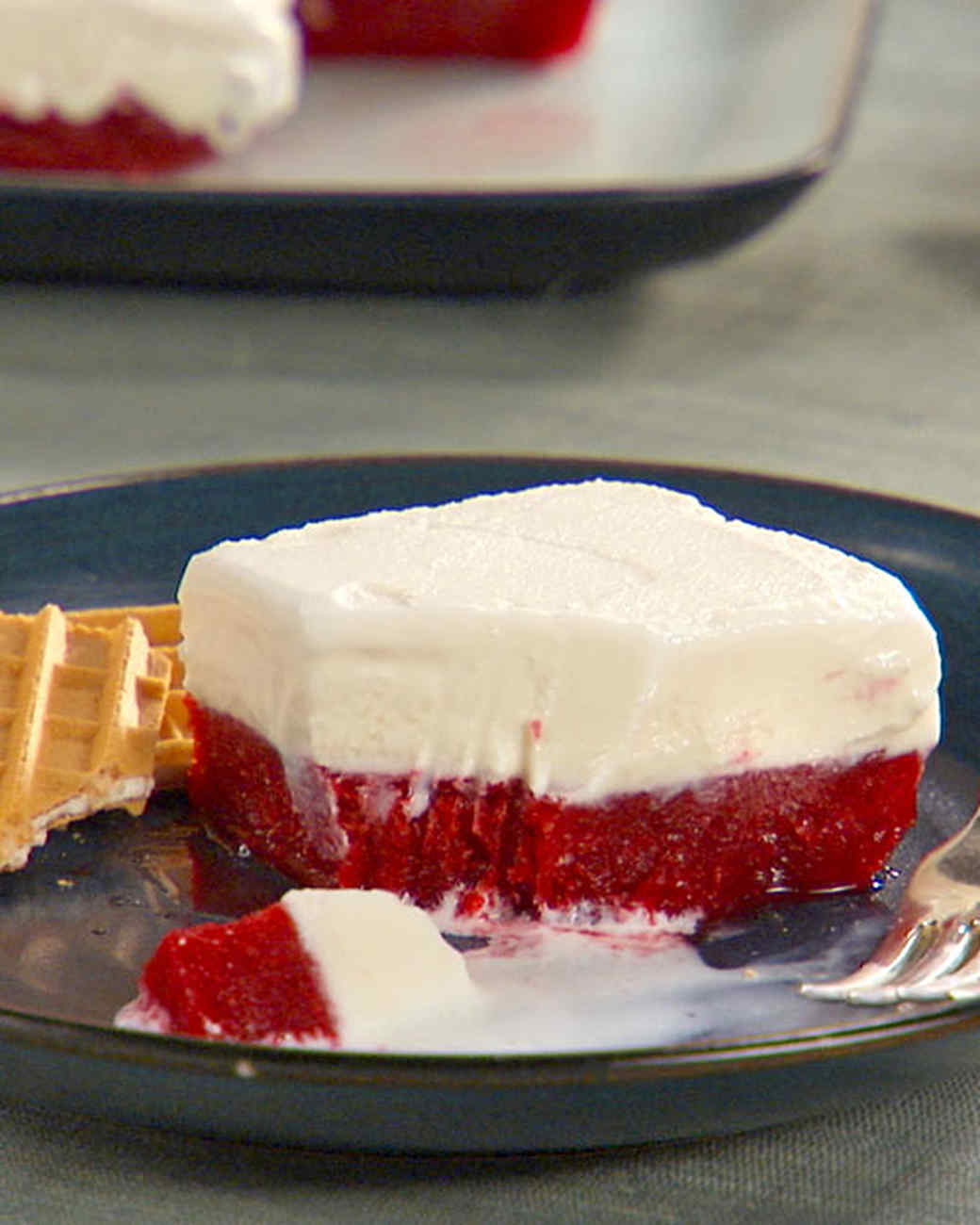 Strawberry-Vanilla Ice Cream Cake Recipe & Video Martha ...
