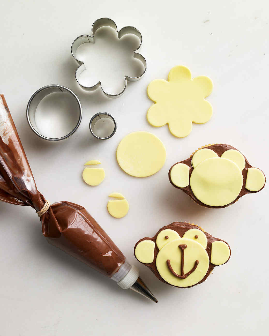 monkey cupcake how to