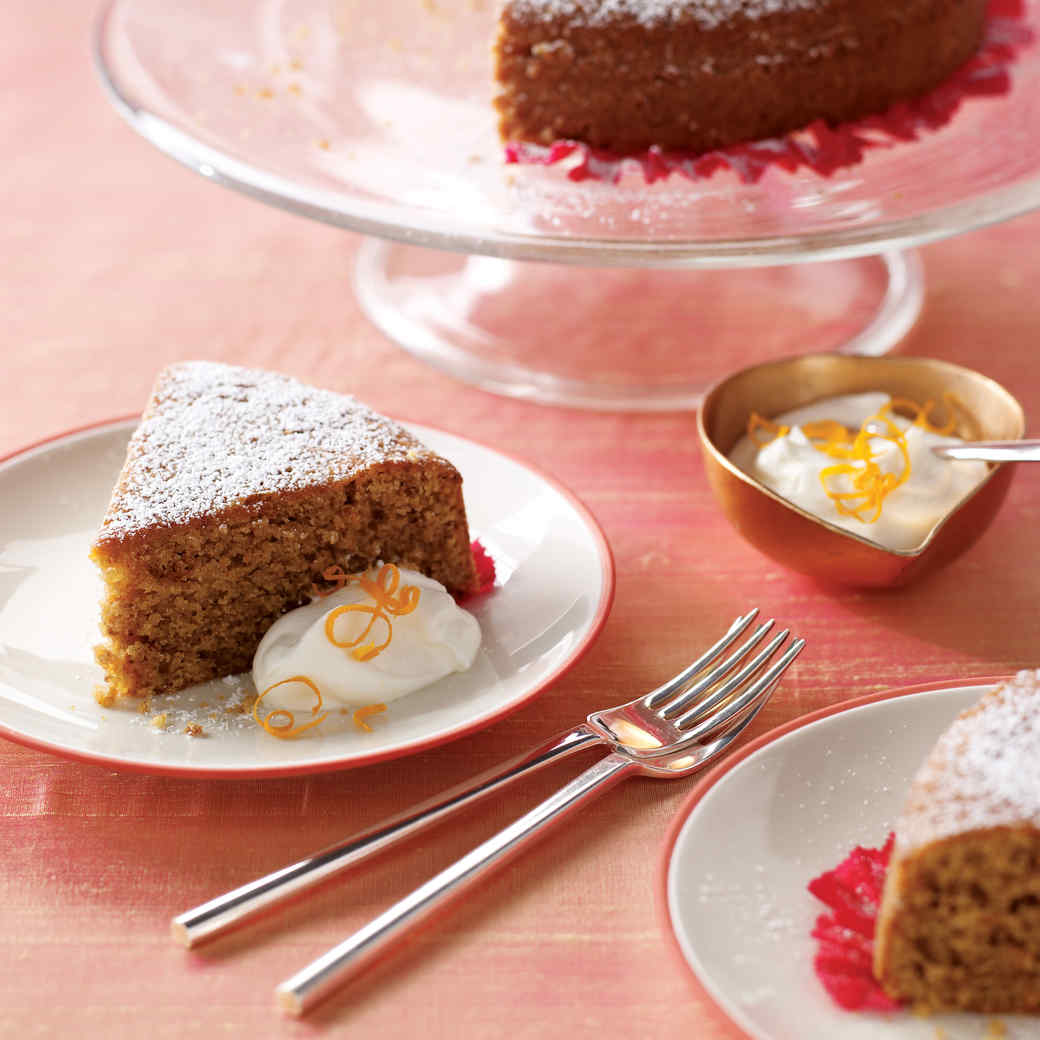 Orange-Walnut Olive Oil Cake with Sweet Yogurt