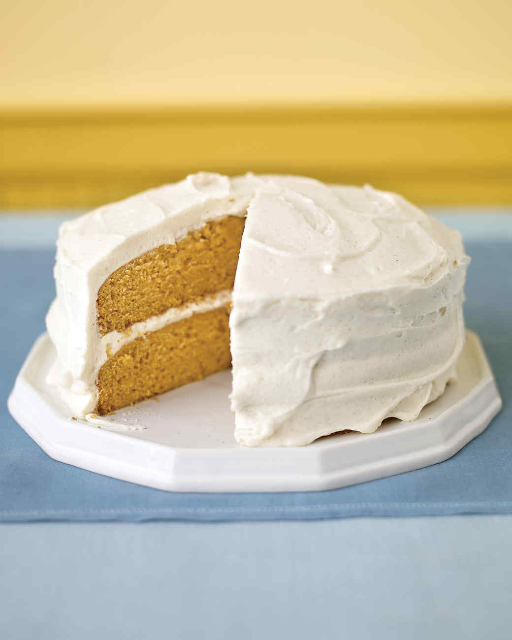 Pumpkin Layer Cake with Spiced Frosting