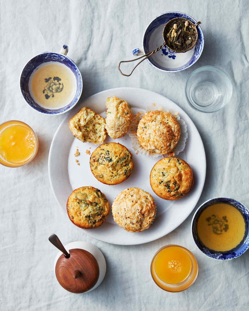 savory muffins table