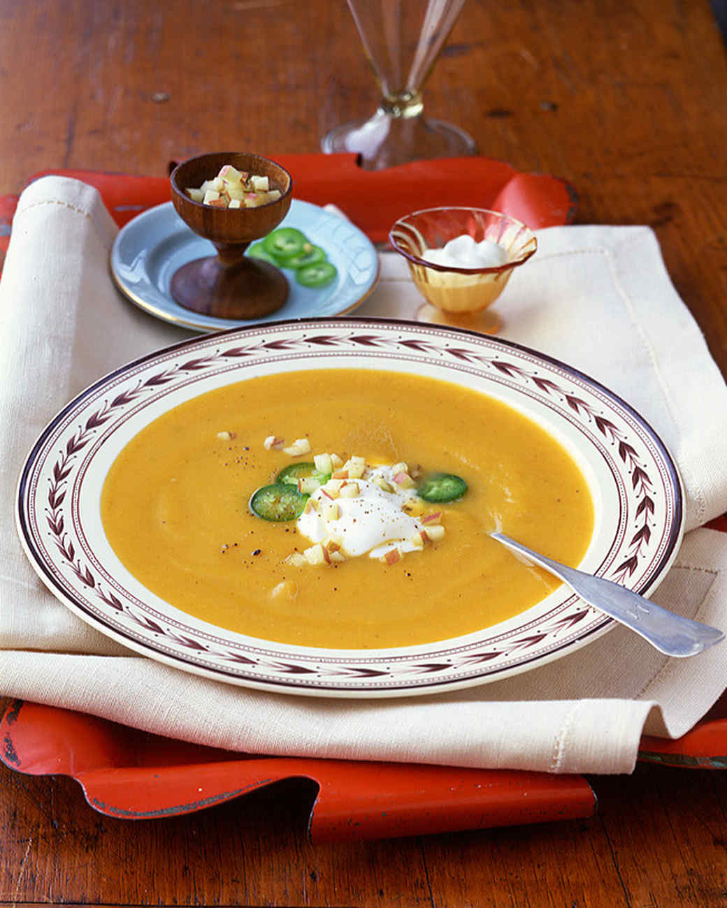 Butternut Squash Soup With Apple And Cream