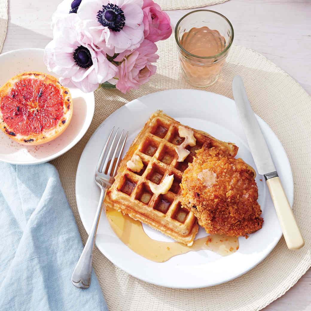 Buttermilk Oat Waffles