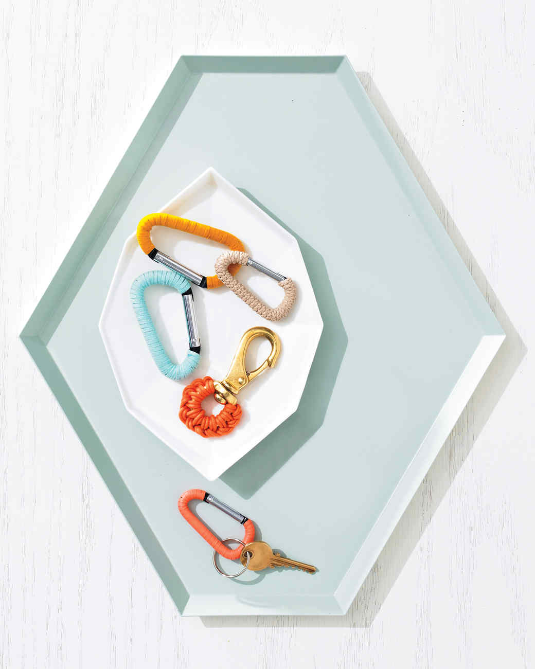 Colorful Cord-Wrapped Keychains
